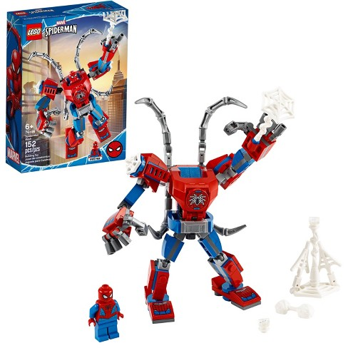 LEGO Marvel Spider-Man: Spider-Man Mech Building Playset with Mech and Minifigure 76146 - image 1 of 4