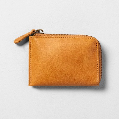 Coin Purse Leather - Cognac - Hearth & Hand™ with Magnolia