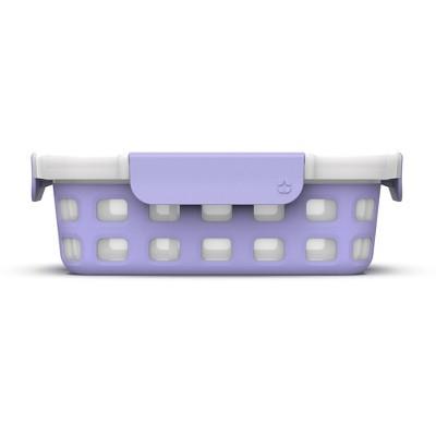 Ello 4 Cup Plastic Food Storage with Divider - Purple