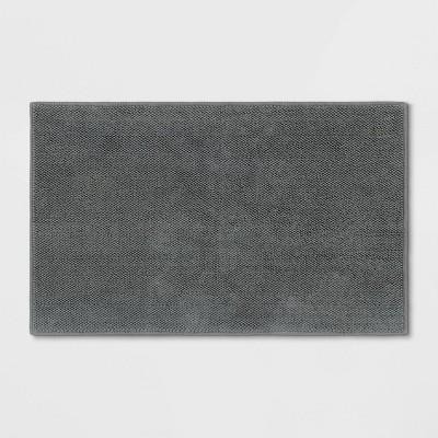 """21""""x34"""" Bath Mat Dark Gray - Threshold Signature™"""