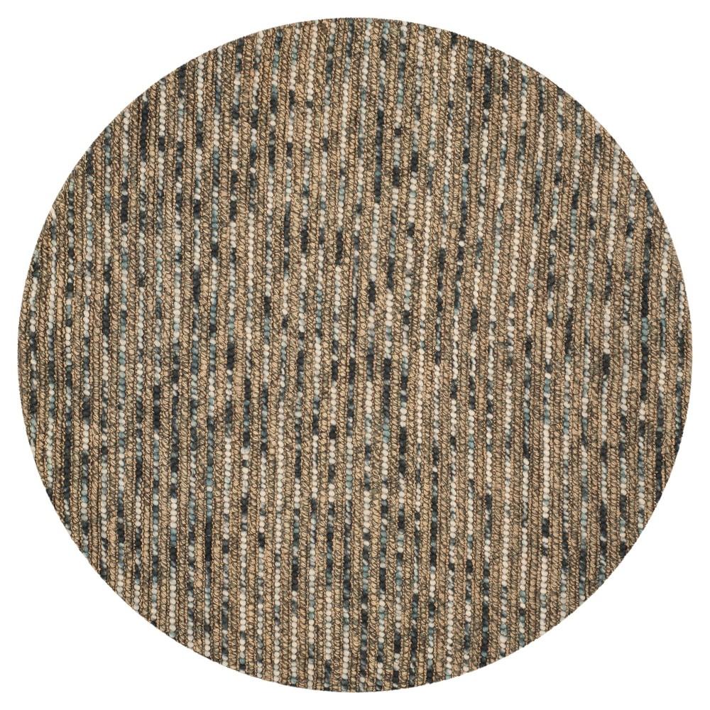 Blue Stripe Woven Round Area Rug - (6') - Safavieh, Blue/Multicolor