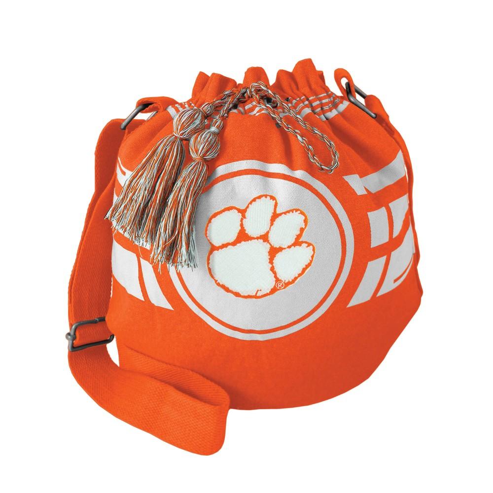 NCAA Clemson Tigers Little Earth Ripple Drawstring Bucket Bag, Adult Unisex
