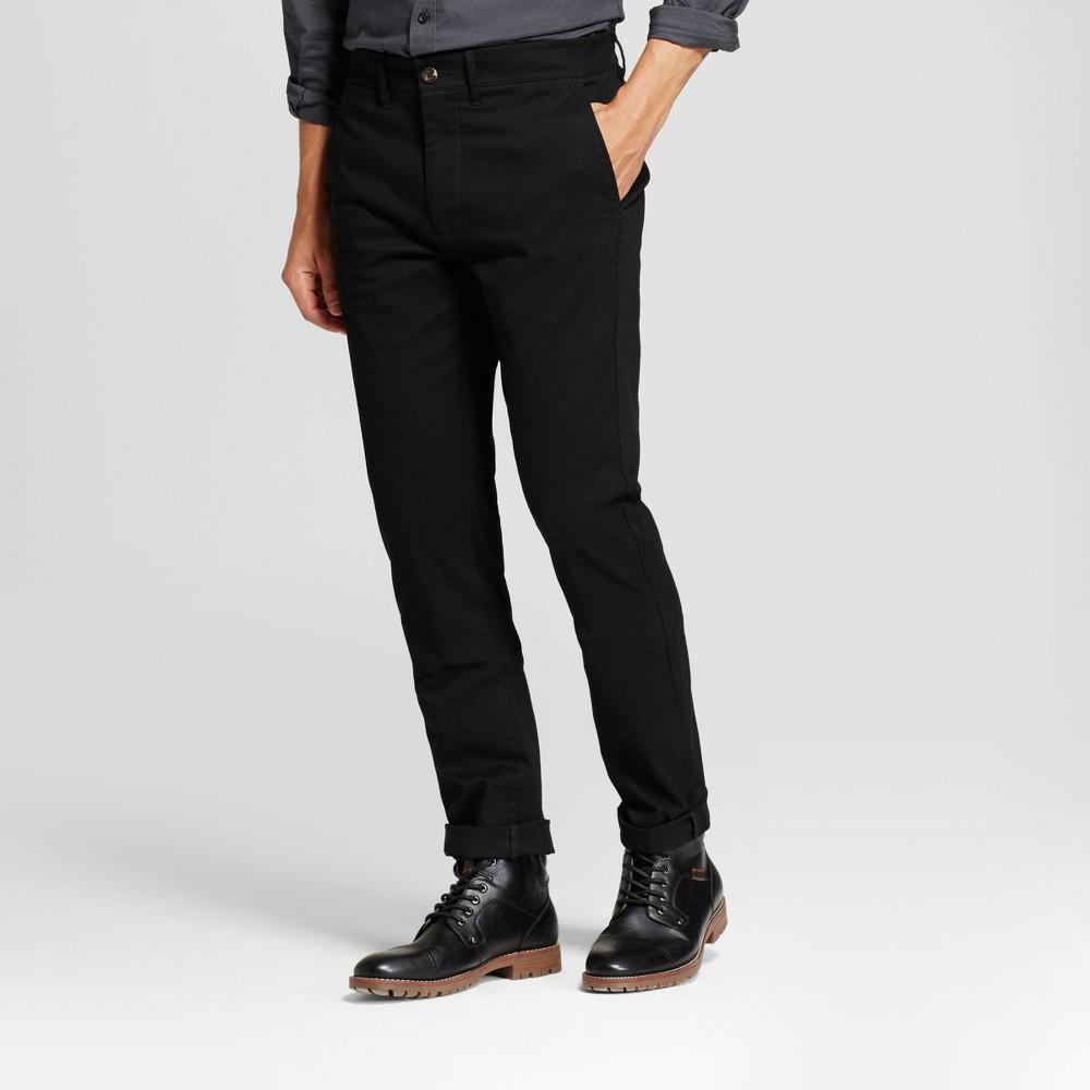 Men's Slim Fit Hennepin Chino Pants - Goodfellow & Co Black 33X34