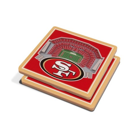 NFL San Francisco 49ers 3D StadiumView Coasters - image 1 of 3