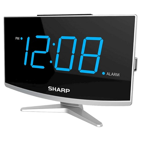 Jumbo LED curved display Alarm Clock Black - Sharp - image 1 of 4