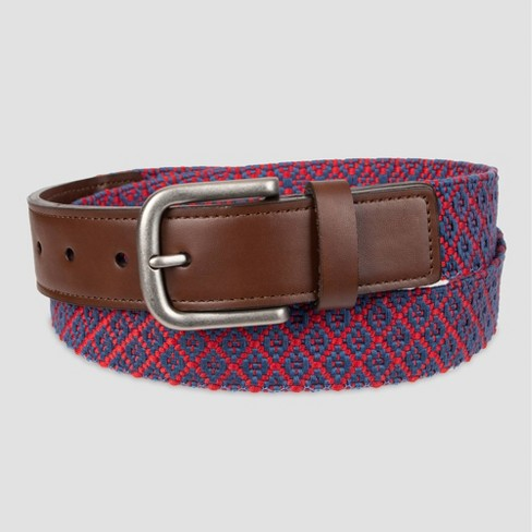 Men's 35mm Web With Tabs Belt - Goodfellow & Co™ Red - image 1 of 3