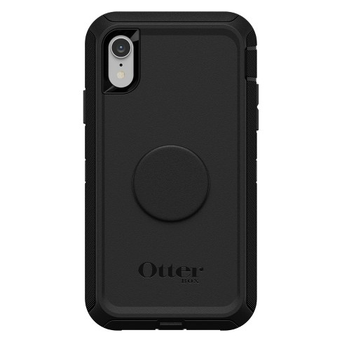 buy online 5cb6a 97f0e OtterBox Apple iPhone XR Otter + Pop Defender Case (With PopTop) - Black
