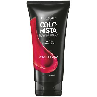 LOreal Paris Colorista Semi-Permanent Hair Makeup - Hot Pink - 1 fl oz