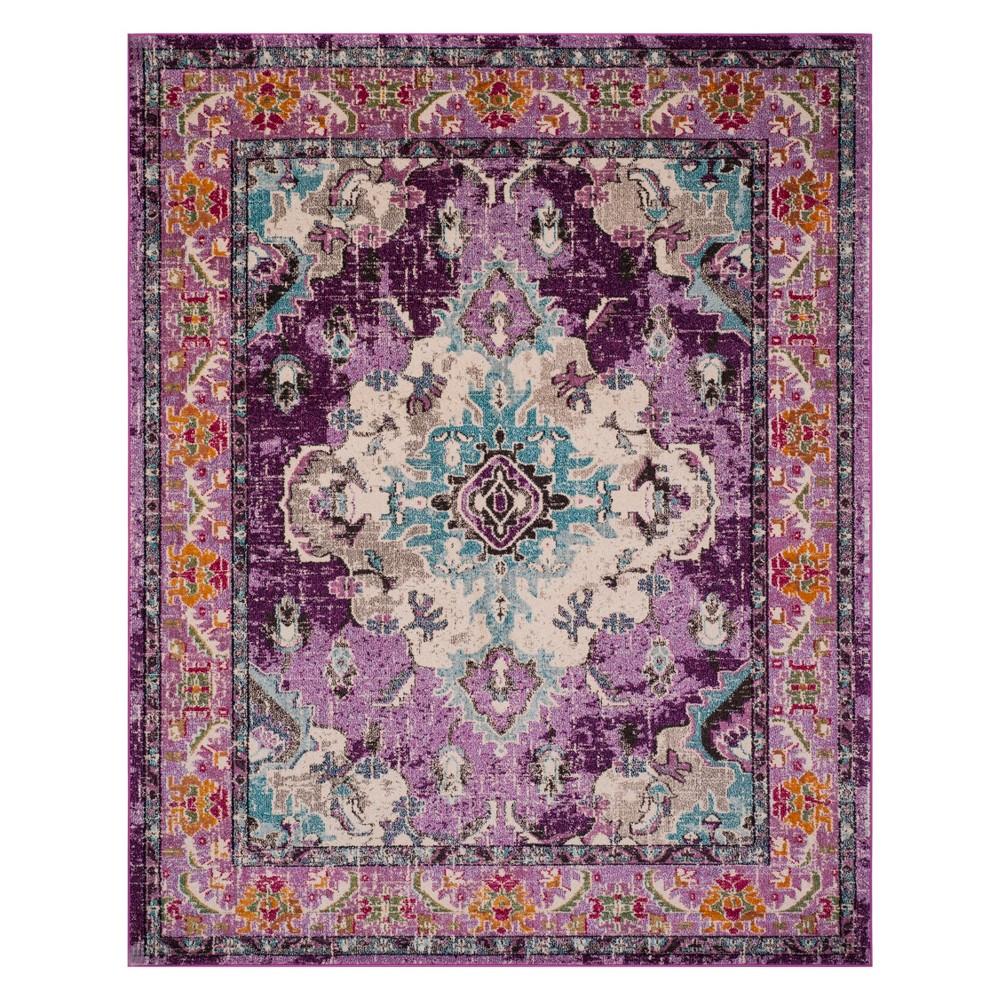 8'X10' Medallion Area Rug Violet/Light Blue (Purple/Light Blue) - Safavieh