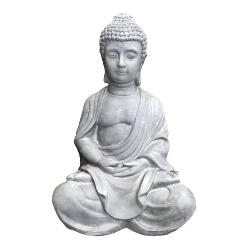 25 6 Concrete Indoor Outdoor Lightweight Kante Sitting Meditating Buddha Zen Statue Gray Rosemead Home Garden Inc Target