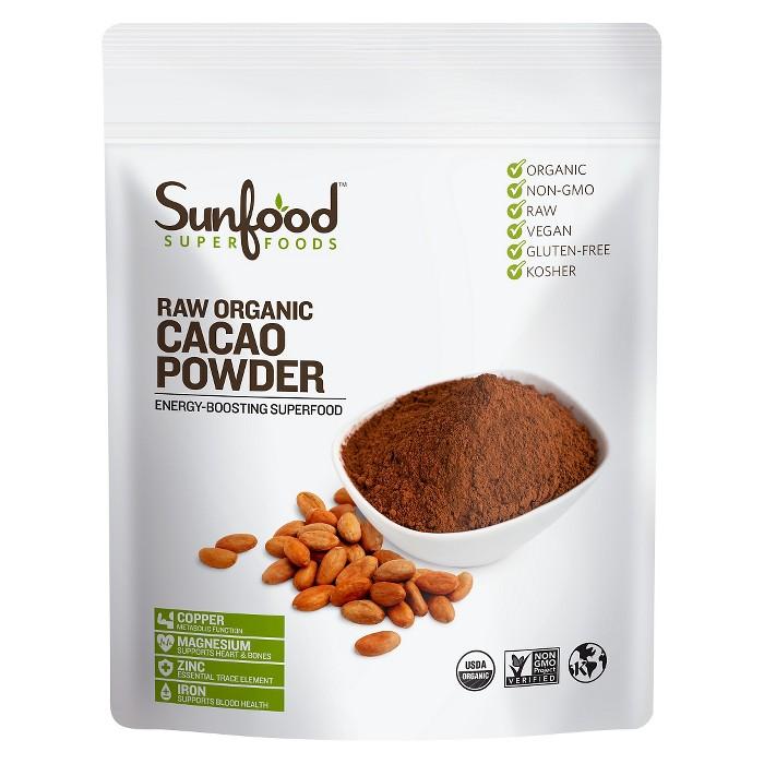 Sunfood Raw Organic Vegan Superfood Powder - Cacao - 8oz - image 1 of 2