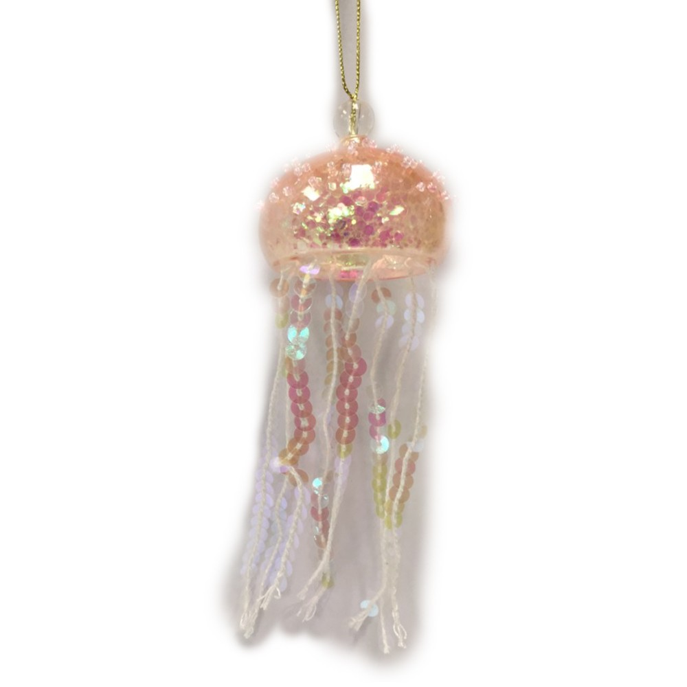 2ct Sequin Jelly Fish Christmas Ornament Blue/Pink - Wondershop