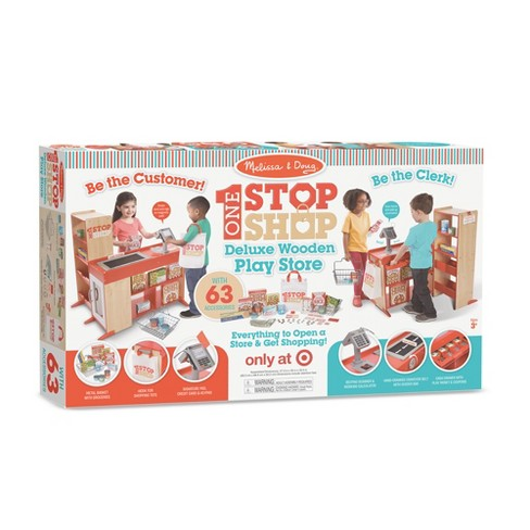 Melissa Doug Deluxe One Stop Shop Play Store Set 63pc Target