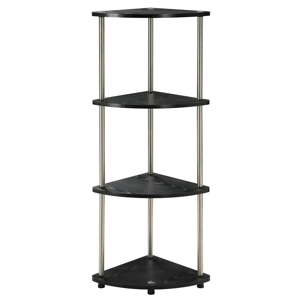 46.5 4 Tier Corner Shelf - Convenience Concepts, Black