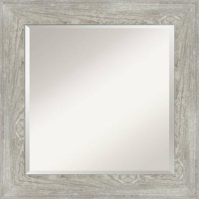 "26"" x 26"" Dove Graywash Framed Bathroom Vanity Wall Mirror - Amanti Art"