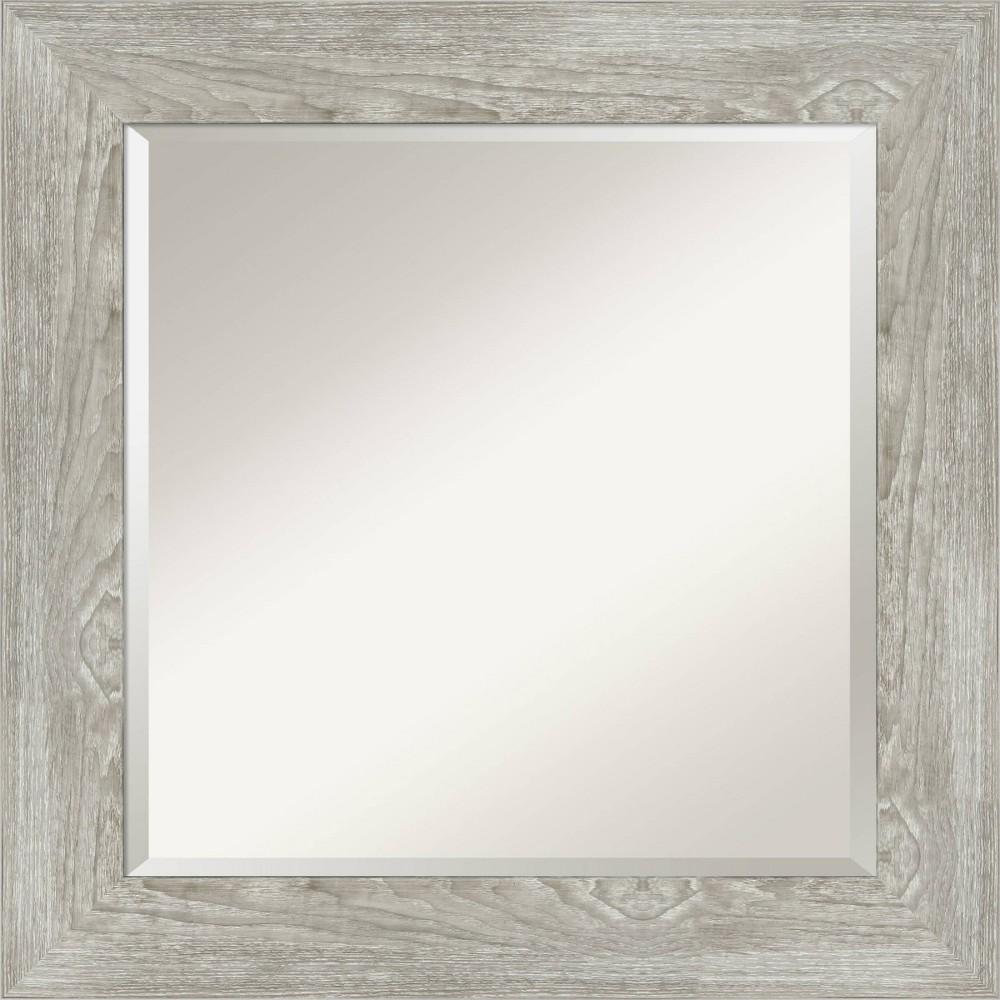 26 34 X 26 34 Dove Graywash Framed Bathroom Vanity Wall Mirror Amanti Art
