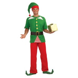 Adult Jolly Elf Costume One Size