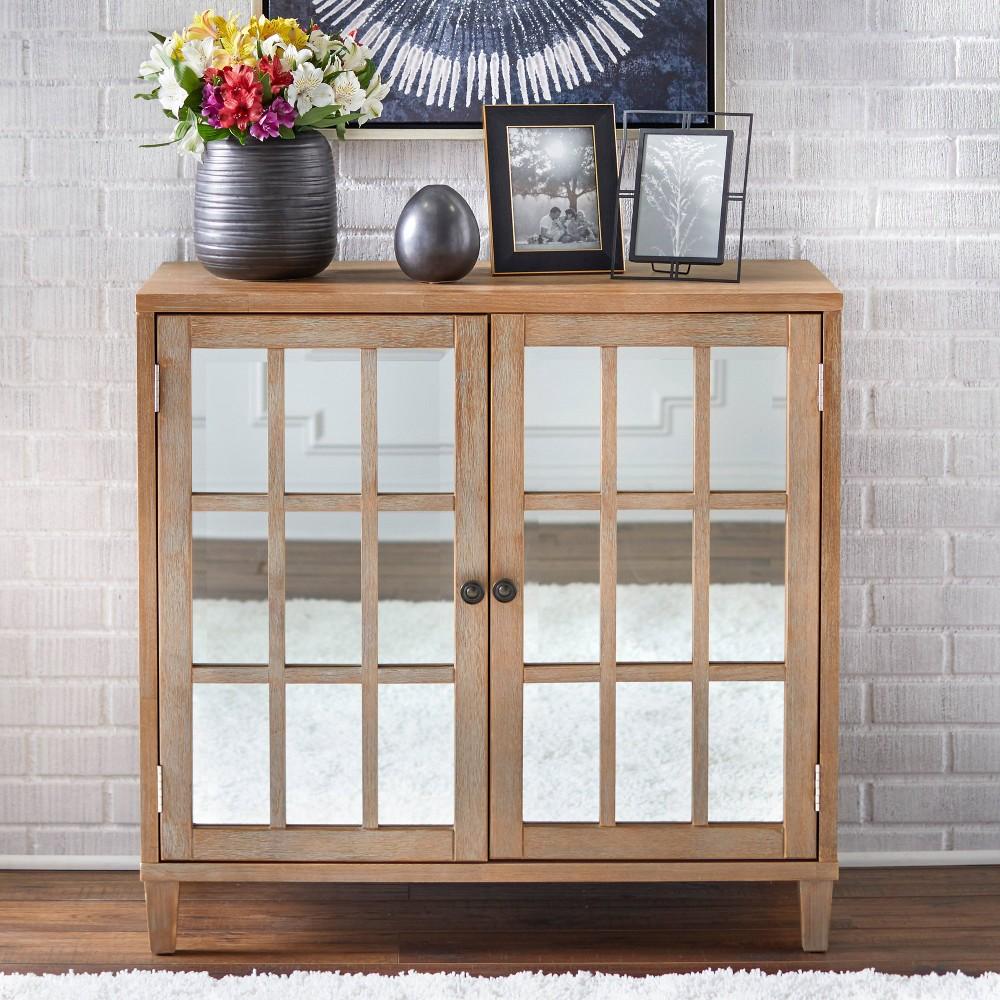 Matteo Cabinet with Mirror Rustic Natural Lifestorey