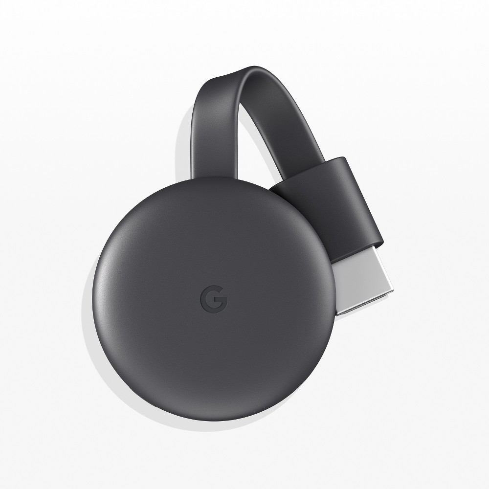 Google Chromecast - Charcoal, Gray Chromecast is designed to make the most of the apps and entertainment already on your phone. Shows, movies, live TV, YouTube, photos and more. It's all just a tap away from all of your family's devices. * Subscriptions are required to view some content. ** Google Home, Chromecast, and compatible content required to cast to a TV using Google Home. Color: Gray.