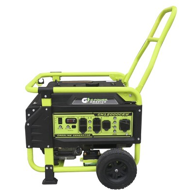 Green-Power 12000w/9500w Electric Start Gasoline Powered 460cc GN12000CEW Portable Generator