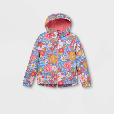 Girls' Floral Windbreaker Jacket - Cat & Jack™ Pink