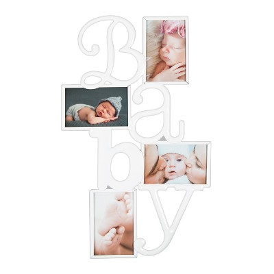 Gallery Solutions  BABY  Collage Frame White