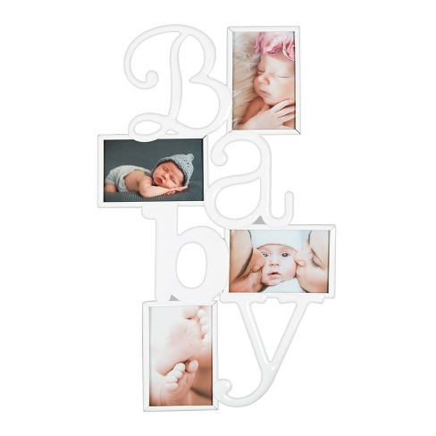 "Gallery Solutions ""BABY"" Collage Frame White - image 1 of 3"