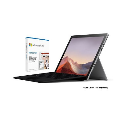 """Microsoft Surface Pro 7 VALUE BUNDLE 12.3"""" Intel Core i7 16GB RAM 256GB SSD Platinum + Microsoft 365 Personal 1 Year Subscription For 1 User"""