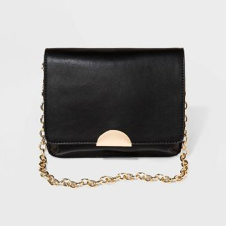 Women's Fanny Pack with Chain - A New Day™ Black