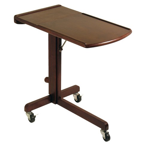 Incredible Adjustable Laptop Cart Walnut Finish Winsome Gmtry Best Dining Table And Chair Ideas Images Gmtryco