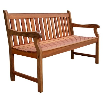 Vifah Baltic 5ft Outdoor Wood Bench - Brown