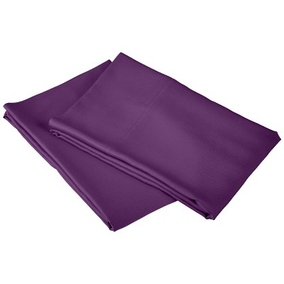 Rayon from Bamboo Solid 2-Piece Standard Pillowcase Set, Purple - Blue Nile Mills