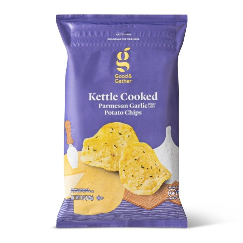 Parmesan Garlic Kettle Chips - 8oz - Good & Gather™ - image 1 of 3