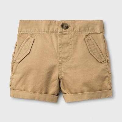 Baby Boys' Chino Shorts - Cat & Jack™ Khaki Newborn