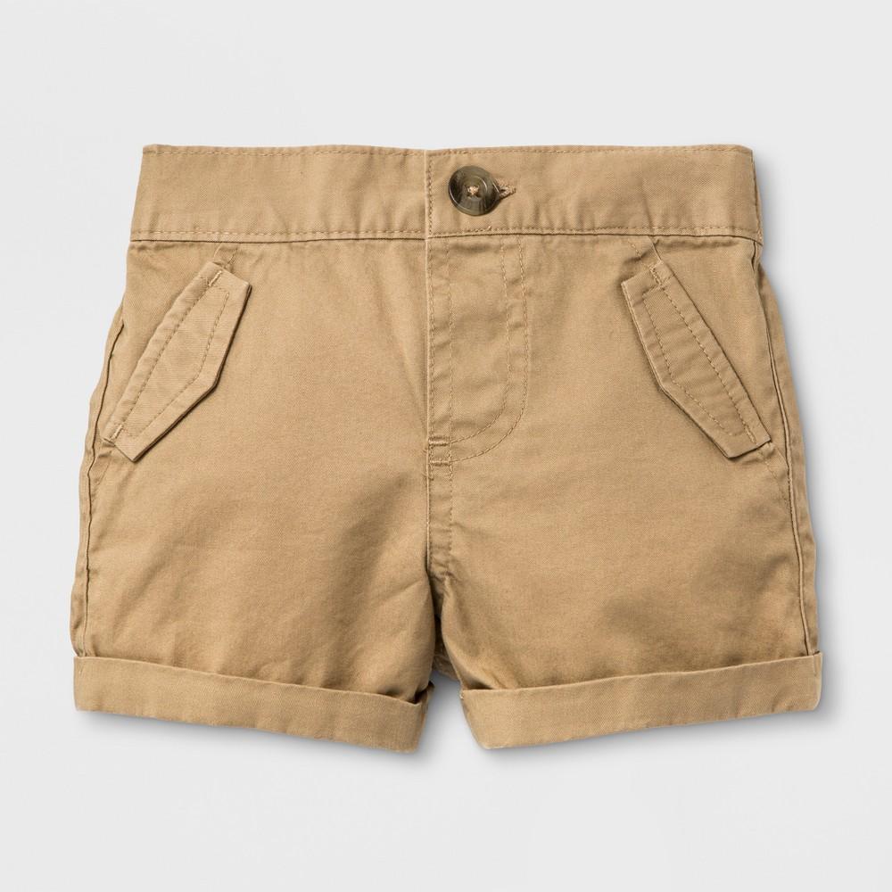 Baby Boys' Chino Shorts - Cat & Jack Khaki 6-9M, Brown