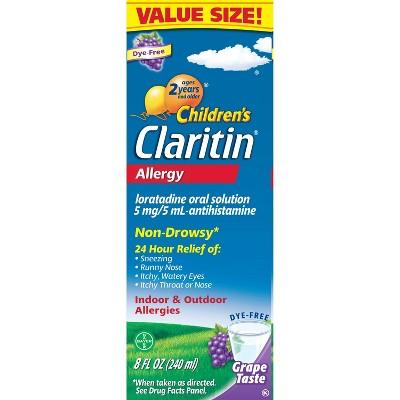 Children's Claritin 24 Hour Allergy Relief Liquid - Grape - Loratadine - 8 fl oz