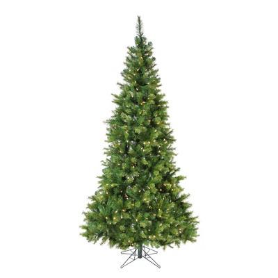 Vickerman 7.5' Prelit Artificial Christmas Tree Slim Jack Pine - Clear LED Lights