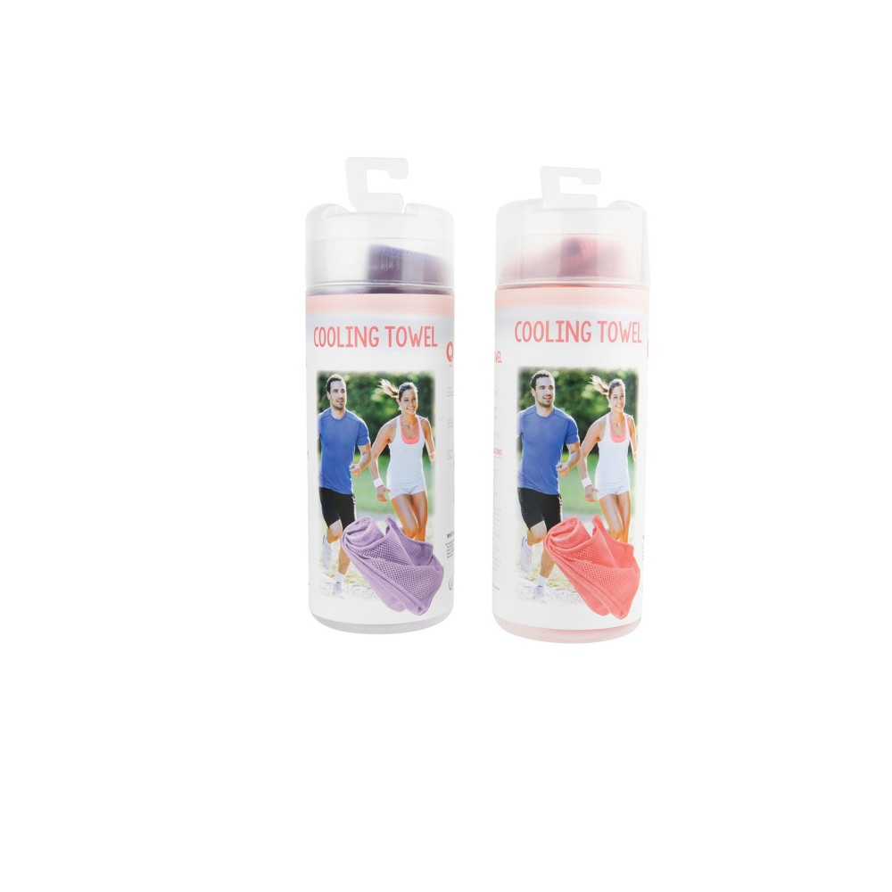 2pk Cooling Towels Coral (Pink)/Purple - Bullseye's Playground