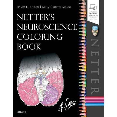 Netter's Neuroscience Coloring Book - by  David L Felten & Mary E Maida (Paperback)