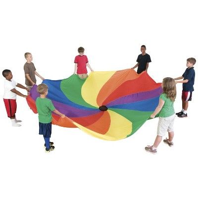 Sportime Swirl Parachute, 18 Foot, Multicolored, Carry Bag Included