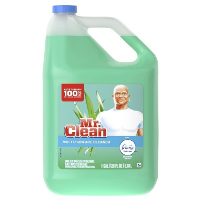 Mr. Clean Multi Surface Cleaner with Febreze Freshness - Meadows & Rain - 128 fl oz