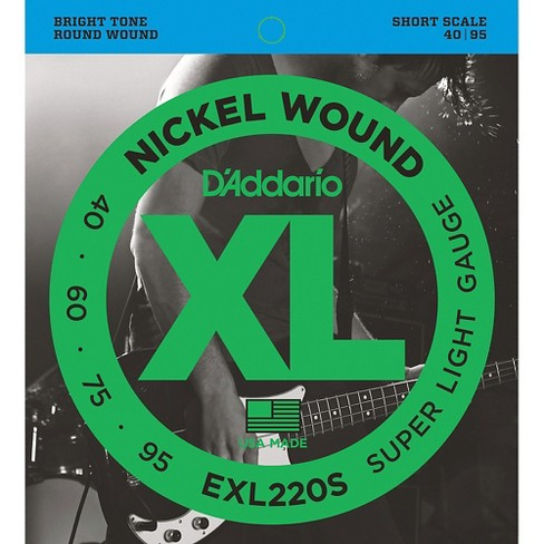 D'Addario EXL220S XL Nickel Super Light Short Scale Electric Bass Strings - image 1 of 4