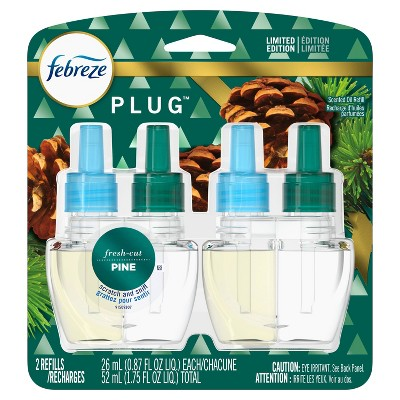 Febreze Plug Refill with Fade Defy Technology Air Freshener - Fresh Cut Pine - 2ct