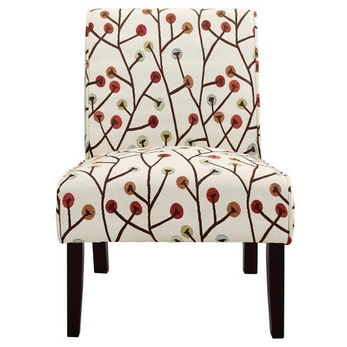 Phenomenal Teagan Armless Accent Chair Floral Dorel Living Camellatalisay Diy Chair Ideas Camellatalisaycom