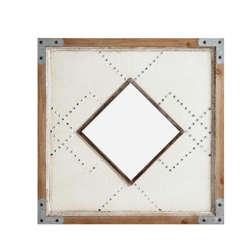 "Image of ""1.38 x 24.02"""" Bexley Decorative Wall Mirror Brown/Tan"""