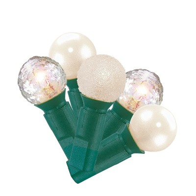 70ct Christmas Incandescent Pearl Lights Iridescent Clear Dimpled White GW - Wondershop™