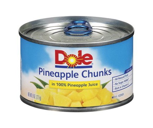 Dole® Pineapple Chunks in 100% Pineapple Juice 8oz - image 1 of 1