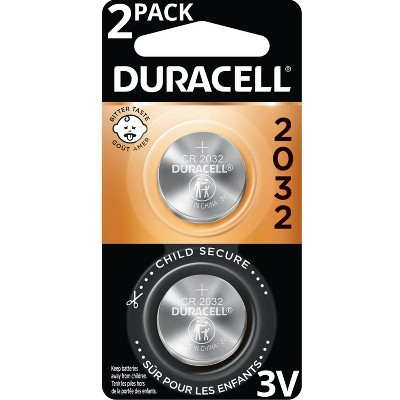 Duracell 2032 Batteries Lithium Coin Button - 2 Pack - Specialty Battery w/ Bitterant Technology