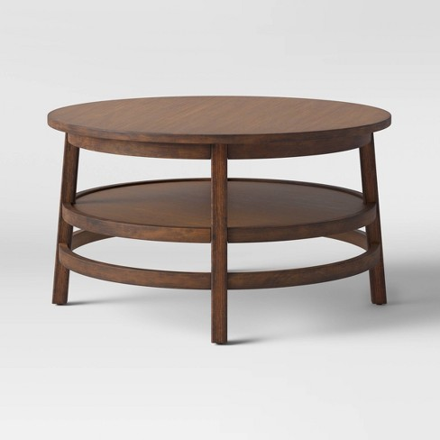 Haverhill Wood Round Coffee Table - Threshold™ - image 1 of 4