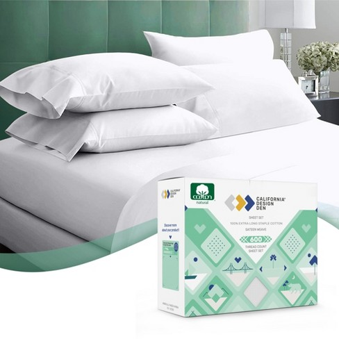 Pure White Bed Sheets Queen Size 100, White Bed Sheets Queen